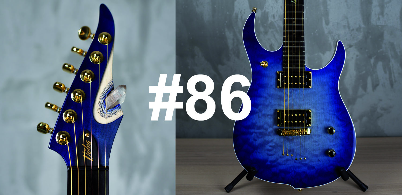 "Vue tête + Corps guitare custom ""Volva"""